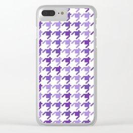 AFE Violet Houndstooth Pattern Clear iPhone Case