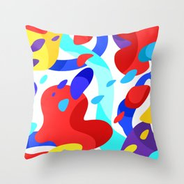 colors in my dream Throw Pillow