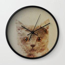 Cats: Portrait British Shorthair Wall Clock