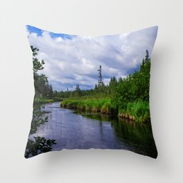 Boundary Waters Entry Point Little Indian Sioux River Throw Pillow