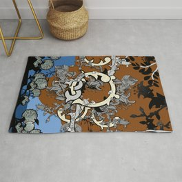 Everlasting love in enchanted forest Rug