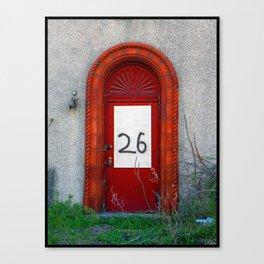 What's behind door #26? Canvas Print