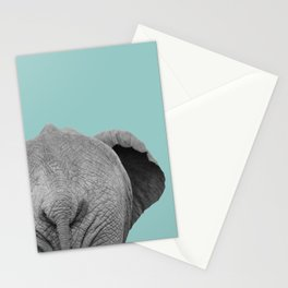 Elephant Wet Bum (Duck Egg Blue) Stationery Cards