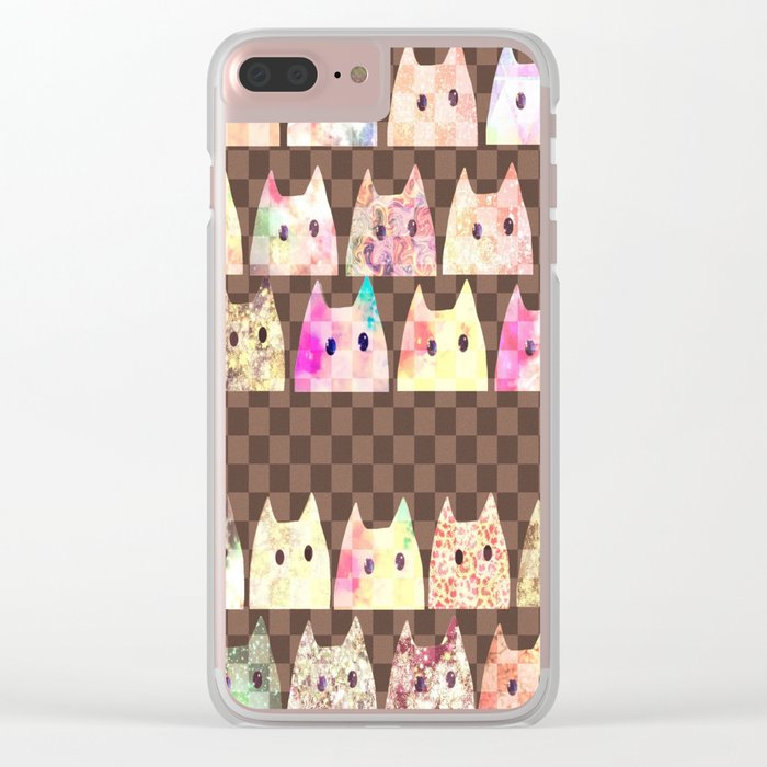 cats-282 Clear iPhone Case