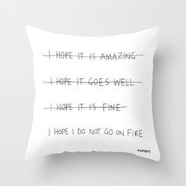 expectations Throw Pillow