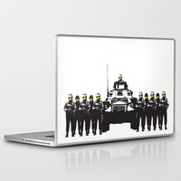 banksy Laptop & iPad Skins featuring Banksy Have a nice day by PupKat