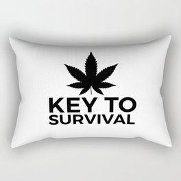 Weed Cannabis leaf gift idea 420 Rectangular Pillow