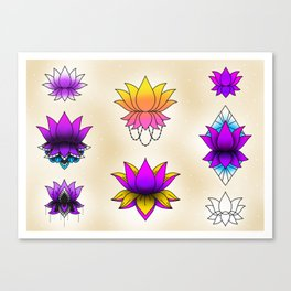 Lotus Flower Sheet Canvas Print