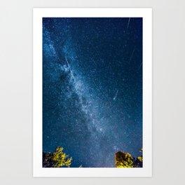 Perseid meteor shower Art Print