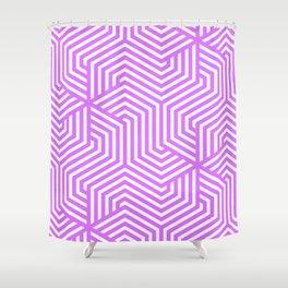 Heliotrope - violet - Minimal Vector Seamless Pattern Shower Curtain