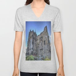St Margaret's Chapel Edinburgh Castle Unisex V-Neck