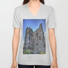 St Margaret's Chapel Edinburgh Castle Unisex V-Neck