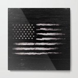 American flag White Grunge Metal Print