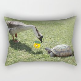 The Turtle and the Goose Rectangular Pillow
