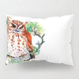 Your Best Friend Owl, woodland Owl art,, children illustration of OWL Pillow Sham