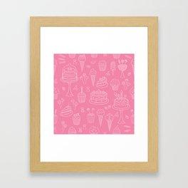 Pink Dessert Framed Art Print