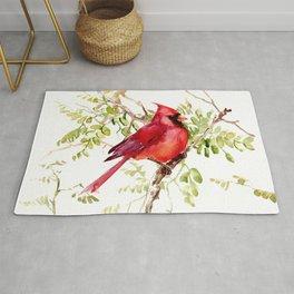 Northern Cardinal, cardinal bird lover gift Rug