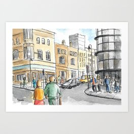 London Bricklane Art Print