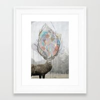 elk Framed Art Prints featuring elk by Emily C Gill