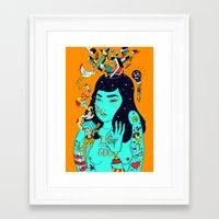 trip Framed Art Prints featuring Trip by Jefowley