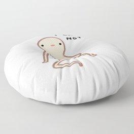 Honest Blob Cares Not Floor Pillow