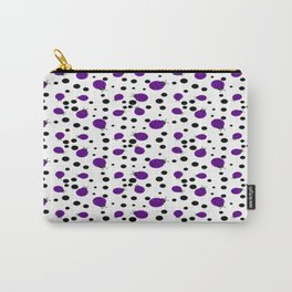 Purple Ladybugs and Black Dots Carry-All Pouch