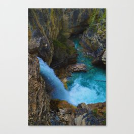 Stanley Waterfall & Beauty Creek in Jasper National Park, Canada Canvas Print