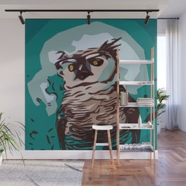 Cool Owl Wall Mural