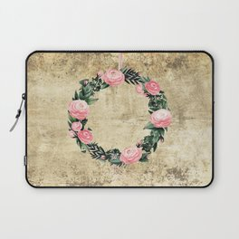 Wreath #Rose Flowers #Royal collection Laptop Sleeve