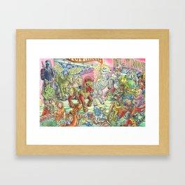 Four Horsemen of the 80s Toypocalypse Framed Art Print