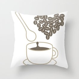 I love coffee Throw Pillow
