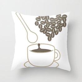 I love coffee Throw Pillow
