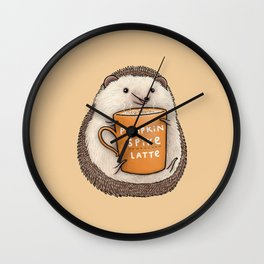 Pumpkin Spike Latte Wall Clock