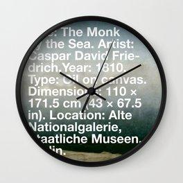 The Monk by the Sea, Caspar David Friedrich, 1810, Alte Nationalgalerie, Berlin Wall Clock