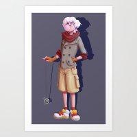 hunter x hunter Art Prints featuring hunter x hunter - killua by gutter
