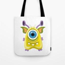 A raster illustration of a monster. Tote Bag
