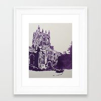 library Framed Art Prints featuring Library by K George