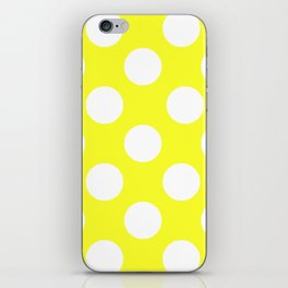 Yellow With Large White Polka Dots iPhone Skin