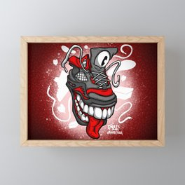 Royal Stain Cyclops Red Shoe Framed Mini Art Print