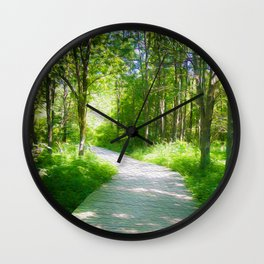 Woodland Path Wall Clock