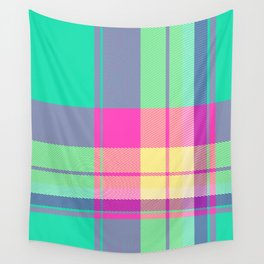 Summer Plaid 24 Wall Tapestry