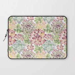 Bright Watercolor Succulents Laptop Sleeve