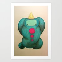 uni-bunny Art Print