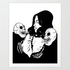 Skull Princess Art Print