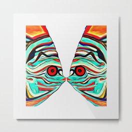 kissing fish Metal Print