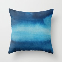 Indigo Ocean Dreams Throw Pillow
