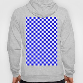 Small Checkered - White and Blue Hoody