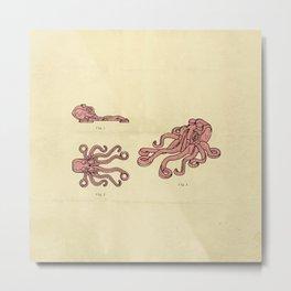 Lego Octopus Metal Print