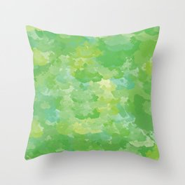 Color Splash: treetops Throw Pillow