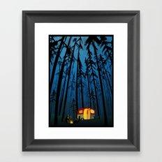 twilight camping Framed Art Print
